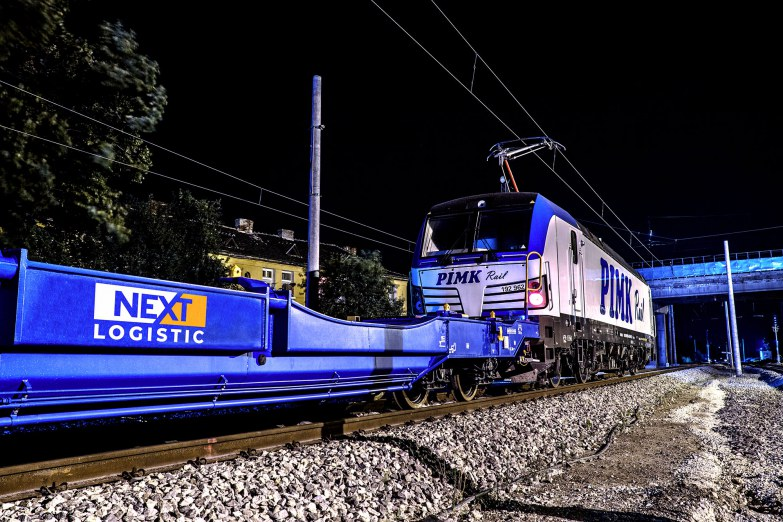 Nextlogistic Интермодален транспорт - влак pimk rail