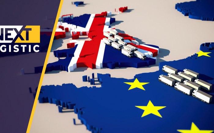 Некст Логистик Камиони върху карта на Англия и Европа