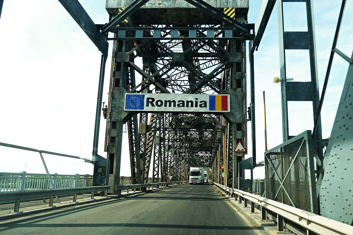 romania bridge border