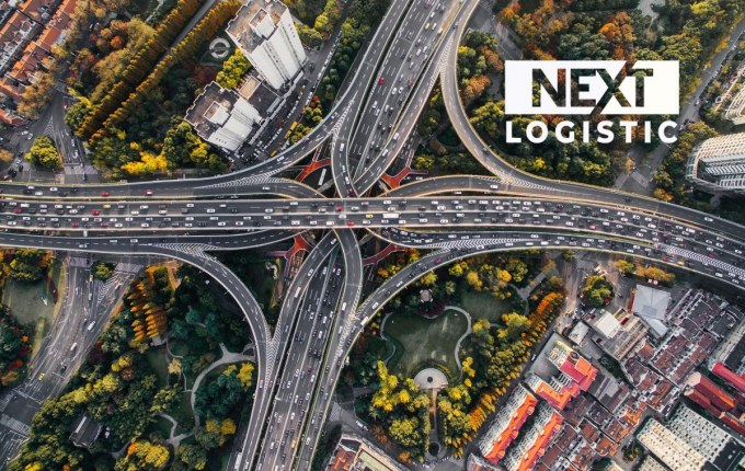 highway top view with nextlogistic logo