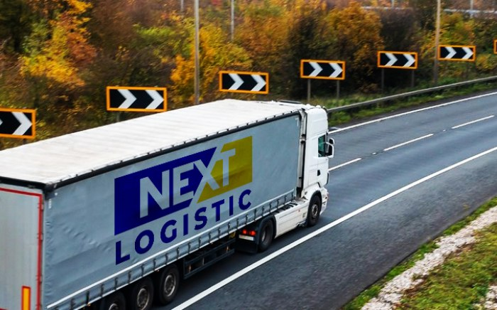 Nextlogistic truck on the road