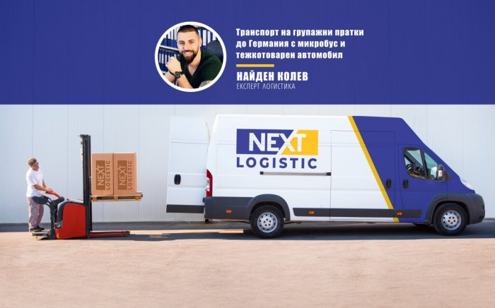 Man loading pallets on Nextlogistic van
